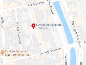 Carte Savasana Toulouse Massage